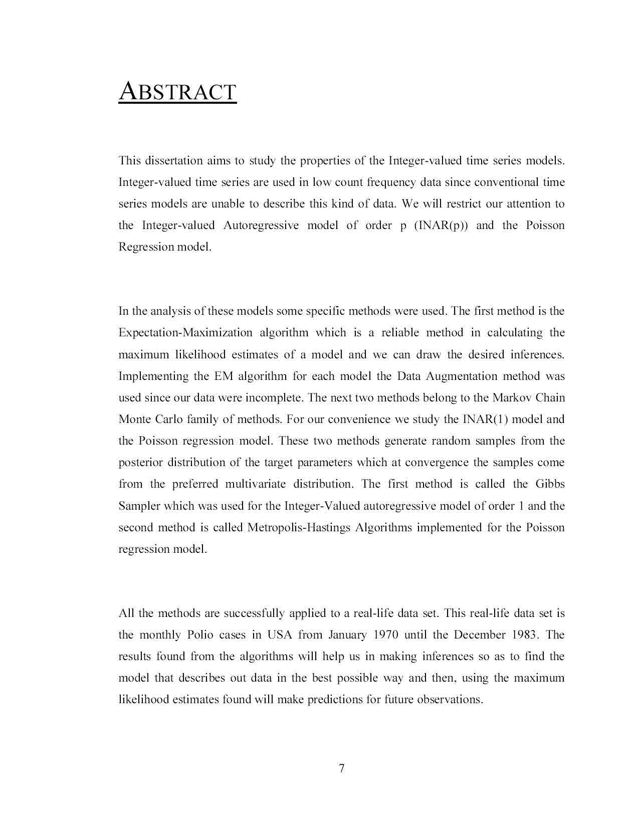 Example english literature dissertation abstract