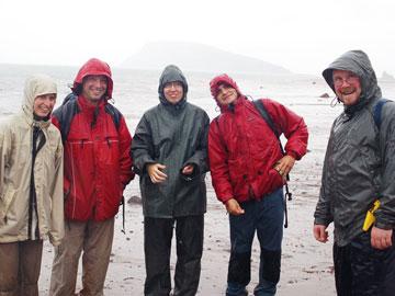 Fundy, Nova Scotia. From left to right: Sophie Leleu, David Hodgetts, Katerina Stolfova, Ivan Fabuel Perez, Shane Tyrell.